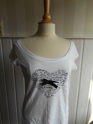 Gina Bernotti Camisa tipo túnica blanco-negro Algodón