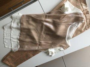 Shirt und 7/8 Hose, apricot- Lurex, 38