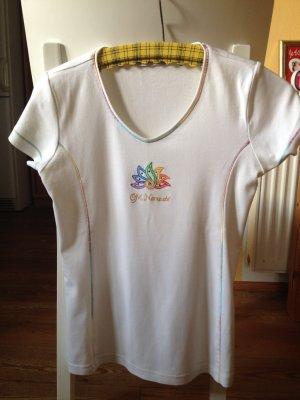 V-hals shirt wit Katoen