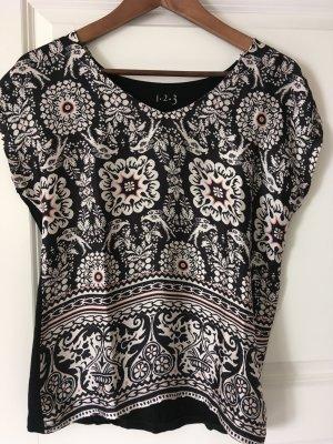 1.2.3 Paris Print Shirt black