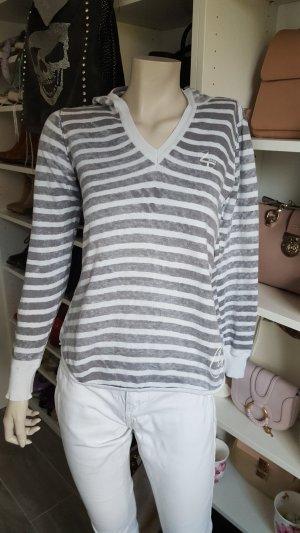 4Wards Maglietta a righe bianco-grigio chiaro