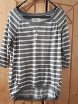 Abercrombie & Fitch Boatneck Shirt white-grey