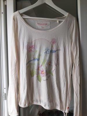 Adenauer & Co T-shirt bianco sporco