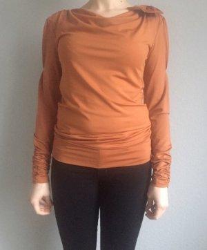 Apart Cowl-Neck Shirt cognac-coloured