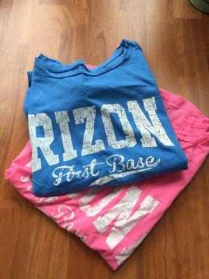 Arizona Camisa holgada azul neón-rosa