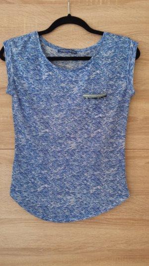Shirt von Bershka blau-meliert
