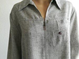 Bexleys Camicia argento-nero Poliestere