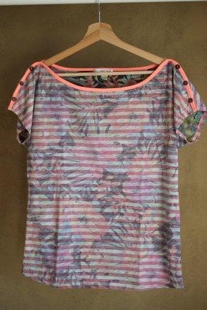 Billabong Gestreept shirt roze-neonroos Gemengd weefsel