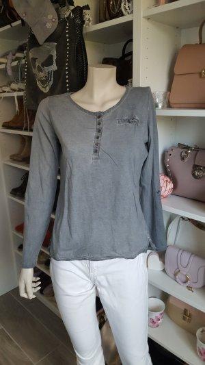 Blind Date Boatneck Shirt slate-gray-pale blue