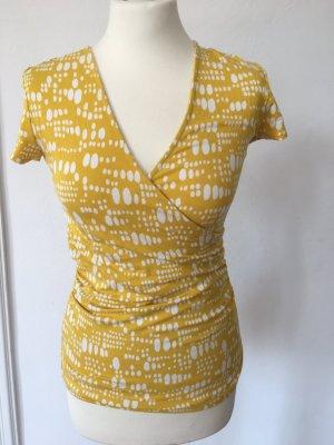 Boden V-Neck Shirt yellow viscose