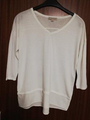 Comma Camisa larga blanco puro