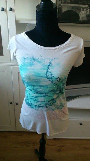 Shirt von Comma mit Wassermuster und Strass