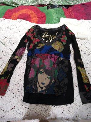 Desigual Shirt zwart-donkerrood