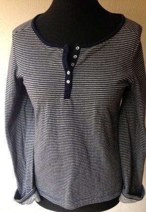 Esprit Gestreept shirt lichtgrijs-donkerblauw Katoen
