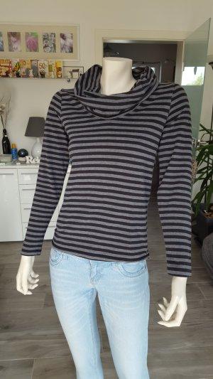 Esprit Gestreept shirt zwart-lichtgrijs