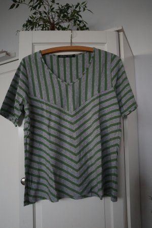 Gudrun Sjöden Waterval shirt grasgroen-grijs Lyocell
