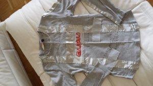 Shirt von GURU, edel ausgefallen silbergrau, Gr. S