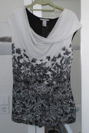 Shirt von H&M, weiß/schwarz, Gr. L, neu
