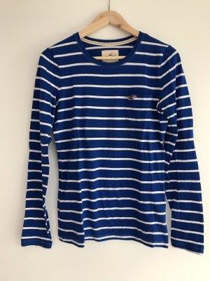 Hollister Gestreept shirt blauw-wit