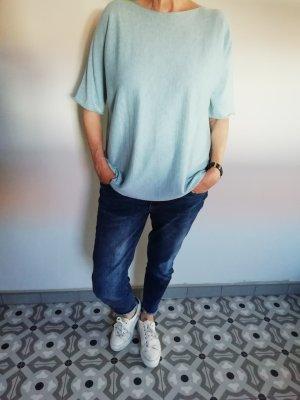 Hubert Gasser Bozen Boothalsshirt lichtblauw