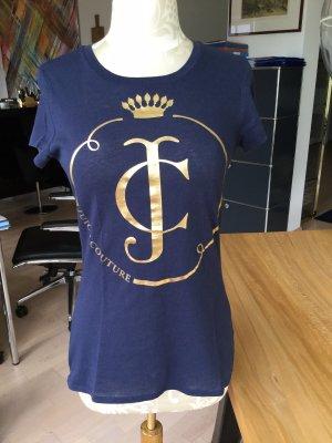 Shirt von J. Couture, blau mit gold