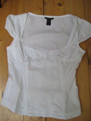 Shirt von Mango weiß Größe M