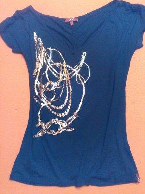 XX BY MEXX Print Shirt black-gold-colored