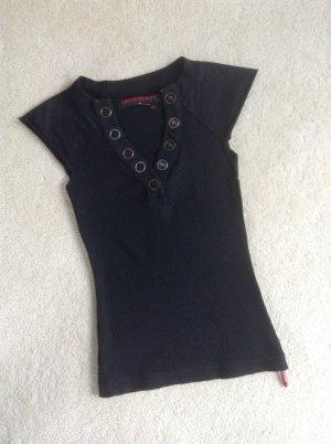 Shirt von Miss Sixty / schwarz-Silber / Gr. 34 XS