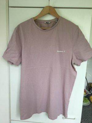 Oversized shirt wit-stoffig roze