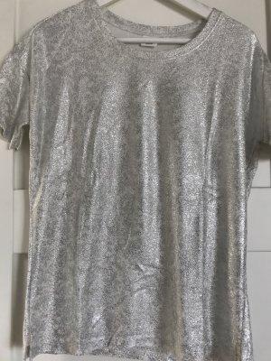 Object Camiseta color plata-blanco