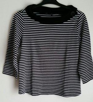 One Touch Carmen shirt wit-zwart Katoen