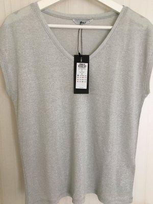 Shirt von Only Silber-Glitzer Größe S