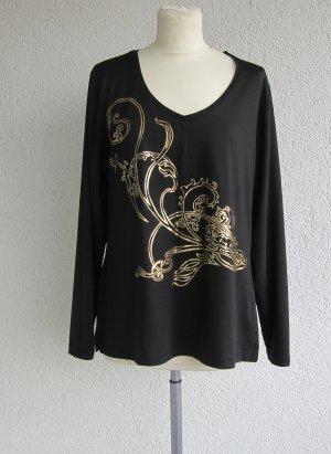 Pompöös Camisa larga negro-color oro
