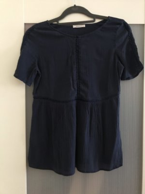 Promod Crochet Shirt dark blue-slate-gray
