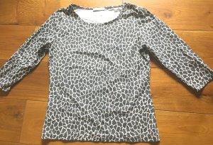 Shirt von Promod Grau/weiß GR. S wie neu