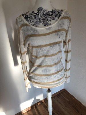 Ralph Lauren Gestreept shirt wolwit-beige