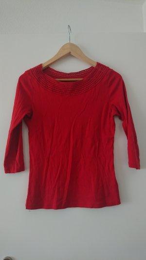 Ralph Lauren Boatneck Shirt red cotton