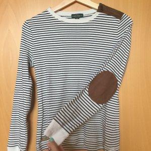 Shirt von Ralph Lauren mit Lederapplikationen