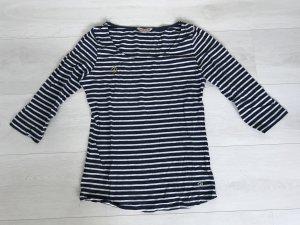 Review Camisa larga blanco-azul acero