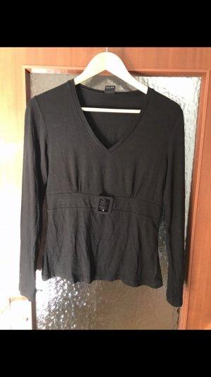 s.Oliver T-shirt col en V noir