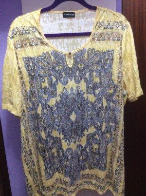 Samoon Camisa larga amarillo pálido-color plata Poliéster