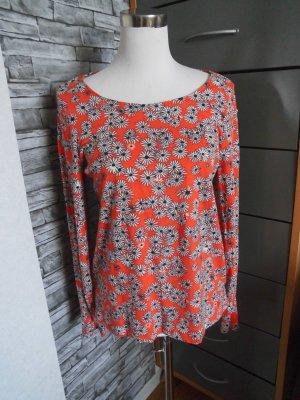 Shirt von Tom Tailor Gr. S Orange Blumenmuster