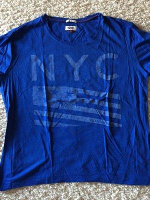 Tommy Hilfiger Denim T-shirt blauw-neon blauw