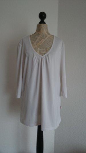Venice beach T-shirt col en V blanc fibre synthétique