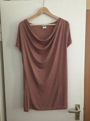Vero Moda Camisa con cuello caído rosa Viscosa