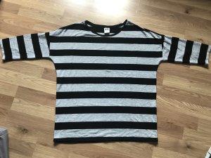 Vero Moda Oversized shirt zwart-grijs