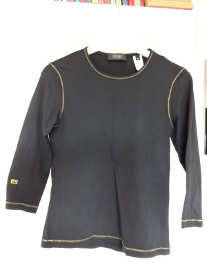 Versace Boatneck Shirt black synthetic fibre
