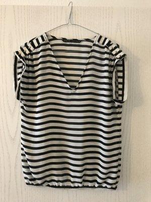 Zara Basic Gestreept shirt zwart-wit
