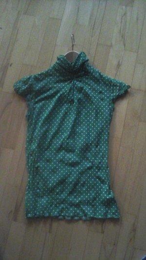 Zara T-shirt court vert polyester