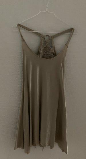Camisa con cuello caído gris claro Algodón